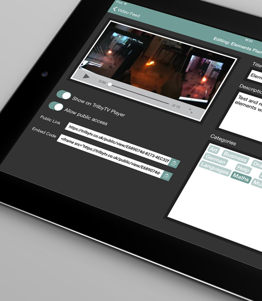 Embed Codes and Public access on the iPad