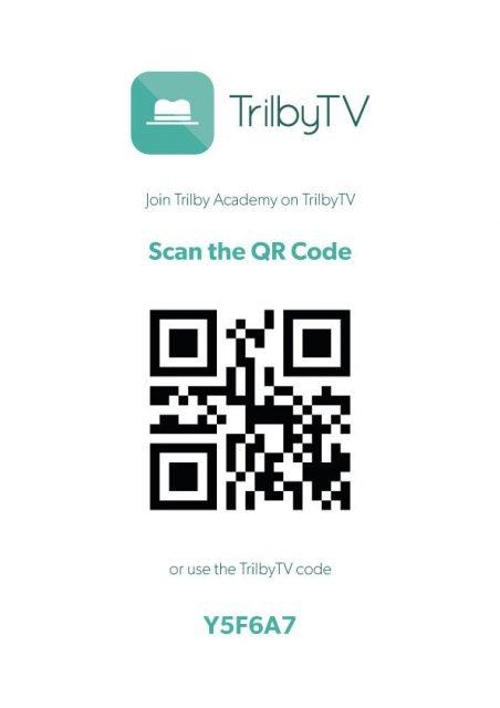 QR codes in TrilbyTV 3.3.1 TrilbyTV