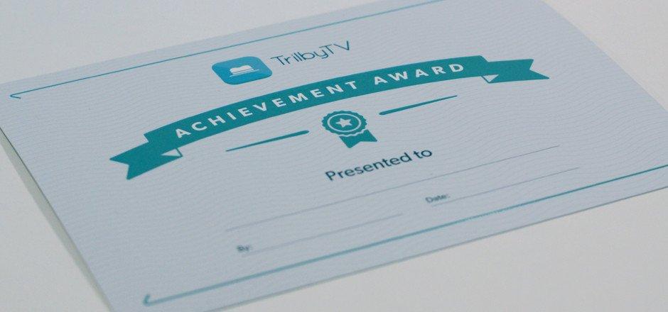 TrilbyTV Certificate