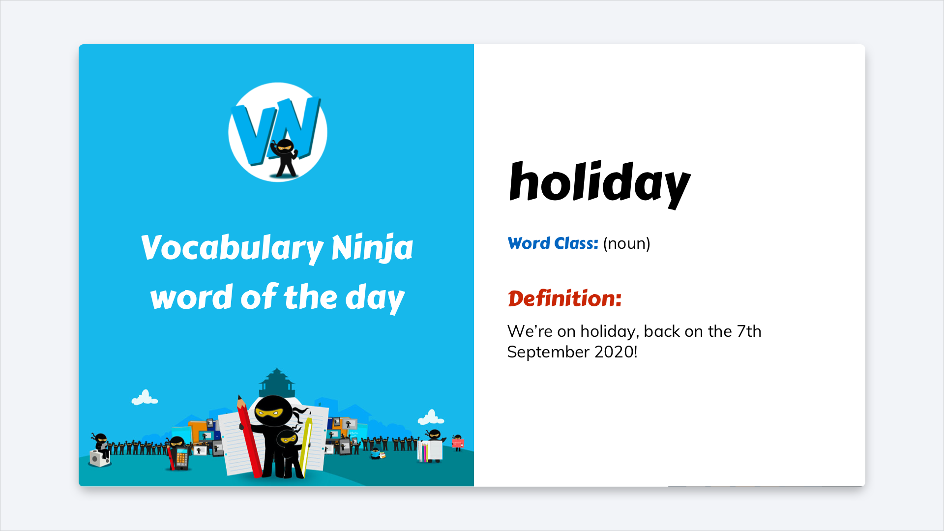 Vocabulary Ninja Brings Word of the Day to Your Signage TrilbyTV