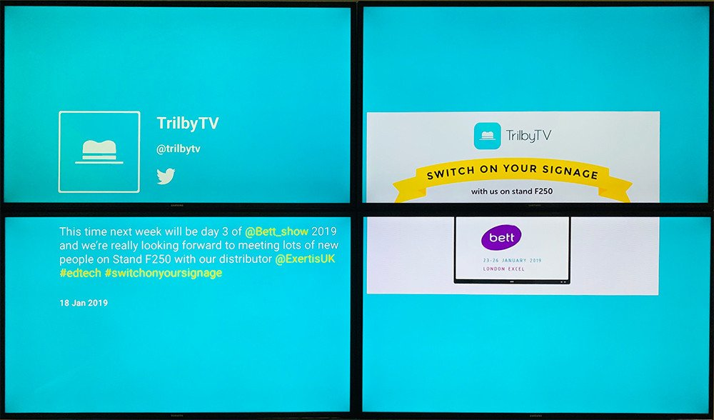 Scaling up your digital signage experience. TrilbyTV