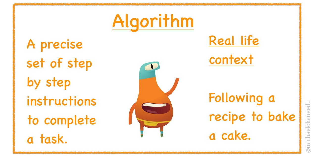 Algorithm, digital signage free download in celebration of code week with TrilbyTV and using Twitter as a CPD tool.