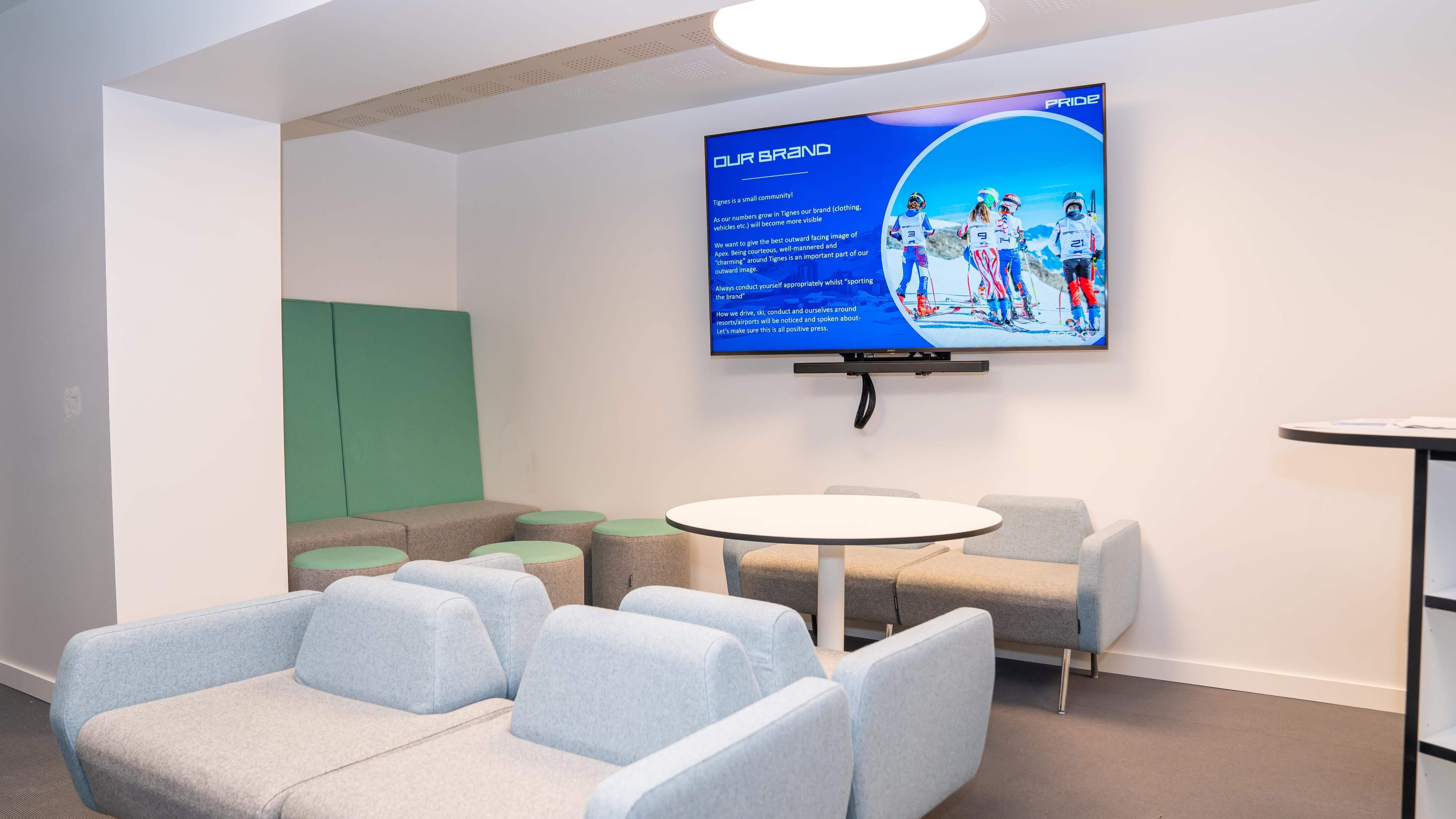 Apex2100 embrace digital signage at their state of the art facilities TrilbyTV